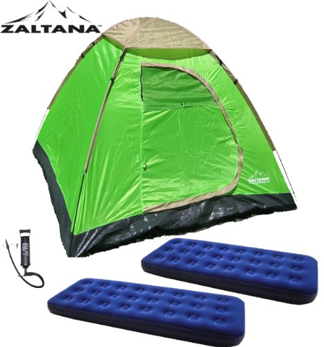 3 Person Tent With 2 Air Mats Single And Air Pump Set 3