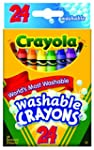 Crayola Washable Crayons, 24 count (5...