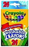 Crayola Washable Crayons, 24 count (5…