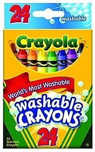 Crayola Washable Crayons, 24 count (52-6924)