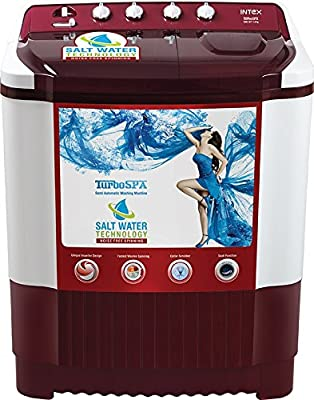 Intex WMS76ST Semi-automatic Top-loading Washing Machine (7.6 Kg, White and Grey)