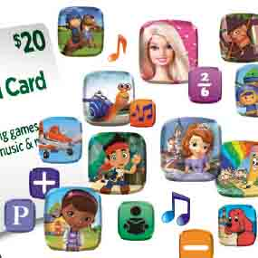 Redeem your  LeapFrog App Center Download Card online and download new content in minutes!