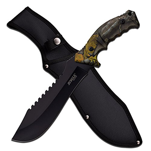 "Jungle Master 15"" Machete, Forest Camo"