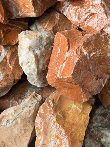 Marmor rot gabionensteine bruchsteine 500kg big bag 40 80mm for Rote ziersteine