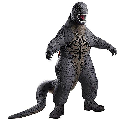 GODZILLA Kids Child Size Deluxe Inflatable Jumpsuit Battery Powered Costume (Godzilla Inflatable Costume)