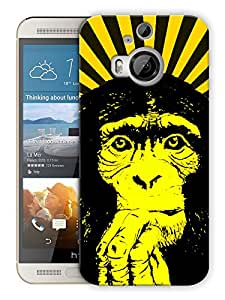 """Humor Gang Tripped Out Monkey Yellow Printed Designer Mobile Back Cover For """"HTC ONE M9 PLUS"""" (3D, Matte, Premium Quality Snap On Case)"""