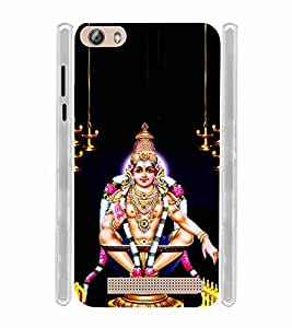 Lord Ayyappan Soft Silicon Rubberized Back Case Cover for Gionee Marathon M5 Lite
