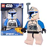 Lego Year 2011 Star Wars Animated Series The Clone Wars 8 Inch Tall Figure Alarm Clock Set# 9003073 - CAPTAIN...