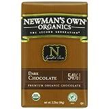 Newman's Own Organics Organic Premium Chocolate Bar, Dark 54% Cocoa, 2.25-Ounce Bars (Pack of 12) ~ Newman's Own
