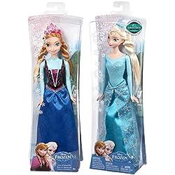 Maven Gifts: Disney Frozen Sparkle Princess Elsa Doll and Princess Anna Doll