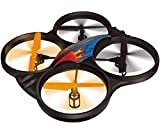 "Haktoys HAK907 2.4GHz 4 Channel 17"" RC Quadcopter, 6 Axis Gyroscope, Loop Function, LED Light, and Camera-Ready (Camera not Included)"