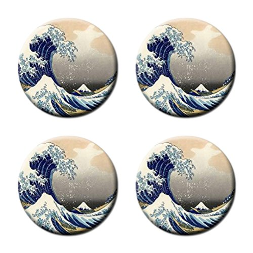 Greate Wave Cartoon Custom Round Coasters Cup Mat Stylish Durable Cork Pad Antiskid Mat Stain Resistance