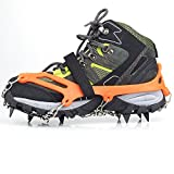 "CAMPLEADER Crampon 2017 Spring Traction Cleats for Snow & Ice Safe Protect Shoes (Ergonomic Fifth Edition) (Ergonomic Crampon Fifth Edition 2015, Medium (US""6-9″/EU""36-40″))"