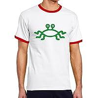 Men's Cool Flying Spaghetti Monster Contrast Ringer T-Shirt