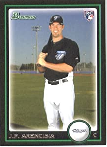 2010 Bowman Draft Picks Baseball Card # BDP103 J.P. Arencibia RC - Toronto Blue Jays (RC - Rookie Card) MLB Trading Card