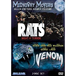 Midnight Movies Vol 10: Killer Critters Double Feature (Rats: Night of Terror/Venom)