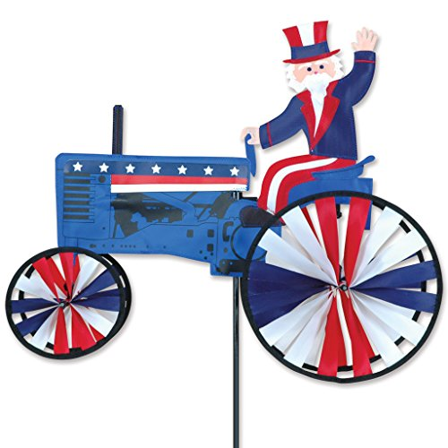 Premier designs premier designs 21 in uncle sam tractor for Garden spinners by premier designs