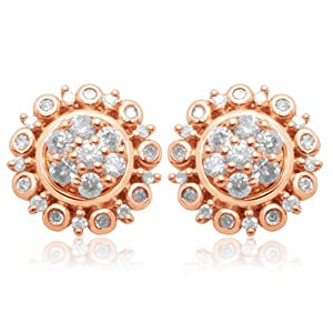 Click to buy 10K Rose Gold Cluster Earrings and Earring Jackets from Amazon!