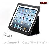 Yoobao iPad2専用本革レザーケース・ブラック◆マグネット内蔵