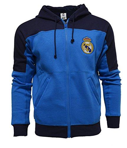 604e070589b Real Madrid Zip Front Fleece Hoodie Sweatshirt Jacket (L)