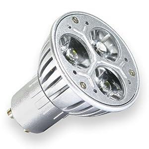 gu10 led 3 watt bulb cool white lighting. Black Bedroom Furniture Sets. Home Design Ideas