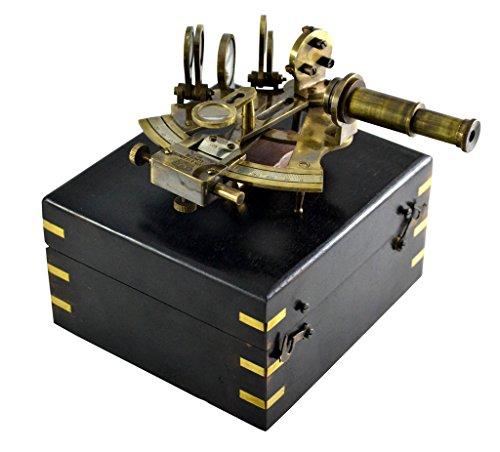 Brass Nautical Antique Sextant Replica Celestial Navigation Marine Navigation for Sale Navigation Brass Sextant -
