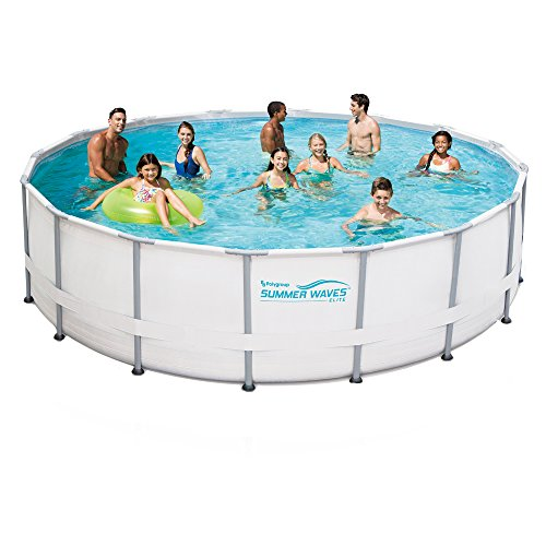 Polygroup Pro Series 15 Ft Round 48 In Deep Metal Frame Swimming Pool Package
