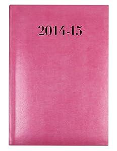 Collins AL53M Pink 2014-2015 Agenda Encre Gris A5 Rose