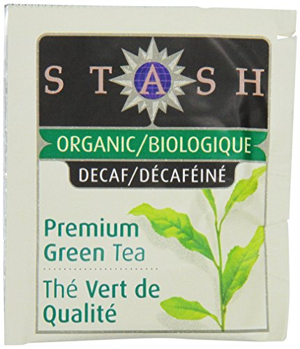 Stash Tea Organic Green Tea Bags In Foil, Decaf Premium, 100 Count