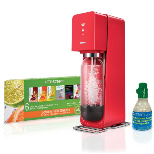 SodaStream Source Plastic Sparkling Water Maker Red