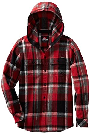 Quiksilver Big Boys' Four Shore Woven, Comp Red, Small