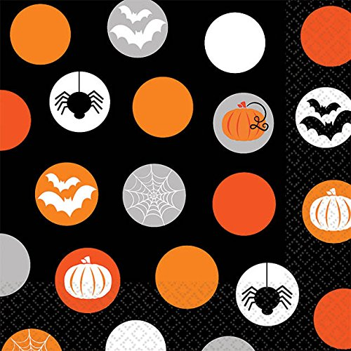 Modern Halloween Beverage Napkins