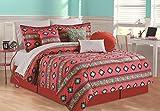 RAMPAGE 5-Piece Comforter Set, Full, Azure