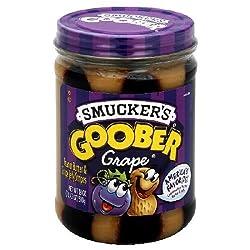 Smucker's Goober Peanut Butter & Grape Jelly Stripes - 18 oz Glass Jar
