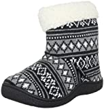 Isotoner Women's Cable Knit Mule Scuffs