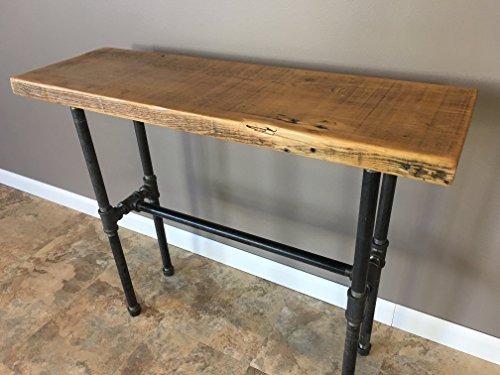 Entry Table, Hallway Table, Nook Table, Reclaimed Wood Table, Wood Table, Pipe Table, Reclaimed Wood 36