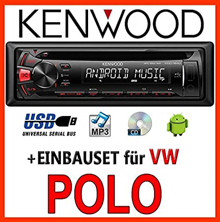 Volkswagen polo 9N3 kenwood kDC - 164 uR autoradio cD/mP3/uSB avec kit de montage