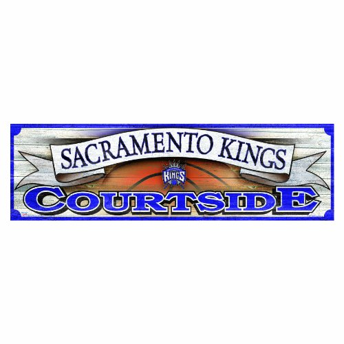 NBA Sacramento Kings 9-by-30 Inch Wood Sign
