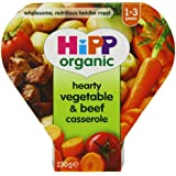 Hipp Organic Hearty Vegetable and Beef Casserole Tray Meal from 12 Months 230 g (Pack of 5)