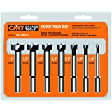 CMT 537.000.07  7-Piece Forstner Bit set, 1/4-3/8-1/2-5/8-3/4-7/8-1 Diameters, 3/8-Inch Shank