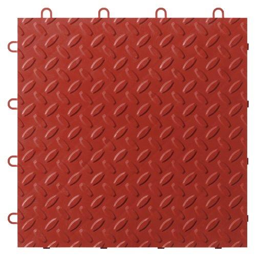 Gladiator GarageWorks GAFT48TTYR Red Floor Tile, 48-Pack