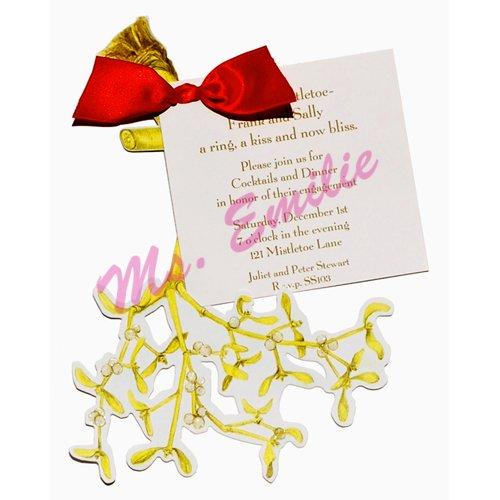 Mistletoe Die-Cut Card, Pack Of 10 front-943233