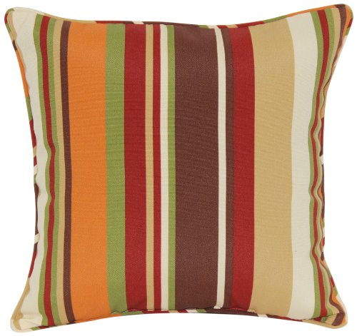 Brentwood 5360 Indoor/Outdoor Welt Cord Throw Pillow, 17 by 17-Inch, McCoury Chocolate picture