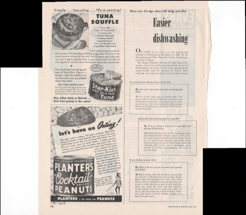 star-kist-fancy-solid-pack-tuna-planters-cocktail-salted-peanuts-home-food-1948-vintage-antique-adve