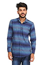 Snoby multicolor cotton blend shirt SBY8085