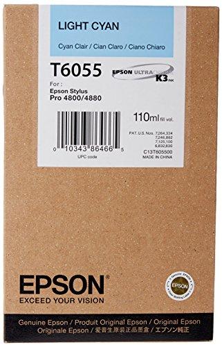 Epson T6055 Tintenpatrone, Singlepack, cyan