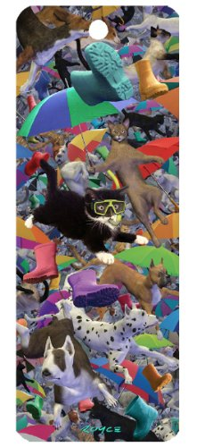 Raining Cats and Dogs 3-D Bookmark