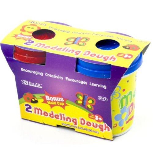 BAZIC 5 Oz. Multi Color Modeling Dough (2/Pack) Case Pack 72 - 816426