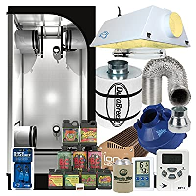 Complete 3 x 3 Grow Tent Package w/ 400W Sealed HPS HID, Filter, Fan and more
