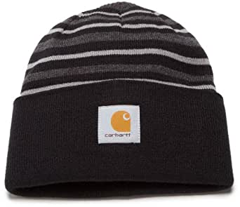 Carhartt Men's Striped Watch Hat,Black (Closeout),One Size